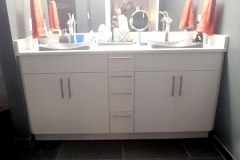 Earthwise Painting LLC - Bathroom Cabinet Refinishing (Before)